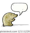 bear with speech bubble cartoon 12111226