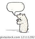 cartoon polar bear with speech bubble 12111282