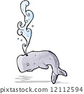 cartoon whale 12112594