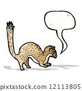 weasel, illustration, cartoon 12113805