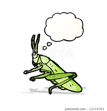 cartoon grasshopper 12114761