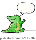 friendly crocodile cartoon 12115102