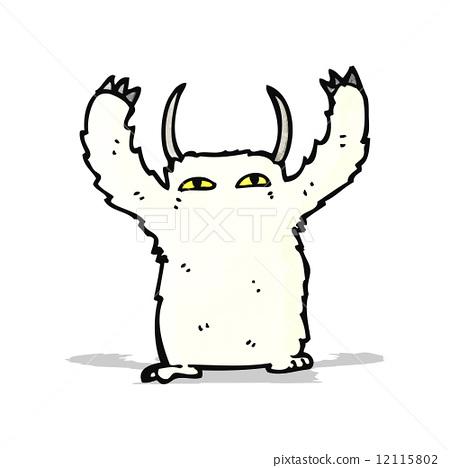 cartoon snow monster 12115802