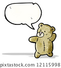 cartoon teddy bear with speech bubble 12115998