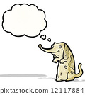 cute funny little dog cartoon 12117884