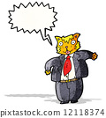cartoon fat cat businessman 12118374