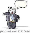 cartoon fat cat businessman 12120414