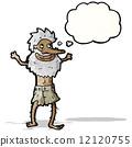 cartoon old hermit man 12120755
