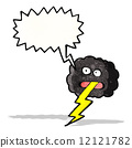 cartoon thundercloud 12121782