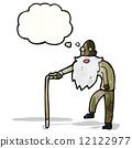 cartoon elderly man 12122977
