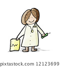 friendly, doctor, drawing 12123699