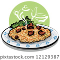pilaf (rice with meat)  12129387