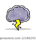 thundercloud cartoon symbol 12166243
