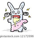 rabbit, illustration, cartoon 12172096