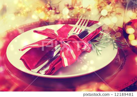 Stock Photo: dinner, xmas, christmas