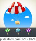 vector, parachute, gift 12191024