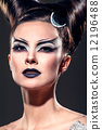 The girl with fancy makeup 12196488