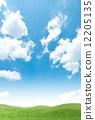 초원, 하늘, 풀밭 12205135