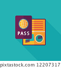 identity, vector, passport 12207317