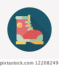 Boot flat icon with long shadow 12208249
