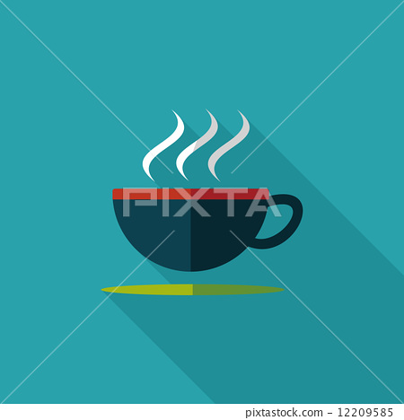 coffee flat icon with long shadow 12209585