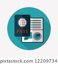 identity, vector, passport 12209734