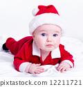 Adorable little santa baby 12211721