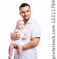 Father holding small cute baby 12211764