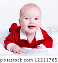 Adorable little santa baby 12211765