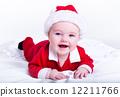 Adorable little santa baby 12211766