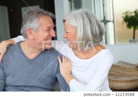 relaxing, senior, couple 12213088