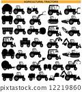 pictogram, tractor, farm 12219860