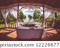 Inside of beautiful wedding gazebo 12226677