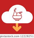 cloud download fruit plate. 12228251