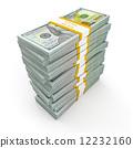 纸币 堆 美元 12232160