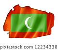 Maldives flag map 12234338