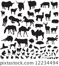 silhouettes of animals 12234494