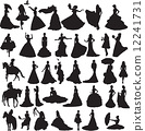 silhouettes of brides 12241731