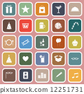 Party flat icons on pink background 12251731