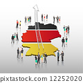 Business people vector with german flag and country outline 12252020