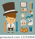 Businessman and tool character , flat design 12256868