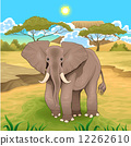 African landscape with elephant. 12262610
