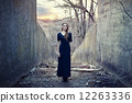beautiful lonely girl  in long dress 12263336