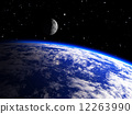 planet, galaxy, moon 12263990