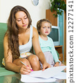 serious, signing, mother 12277141