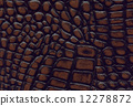 brown and black crocodile leather texture 12278872