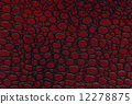 red and black crocodile leather texture 12278875