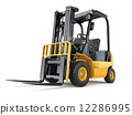 Forklift truck on white isolated background. 12286995