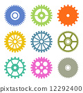 Gear Icons Set in Flat Design colors. Vector 12292400