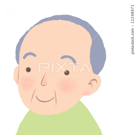 A grandfather who smiles 12298971
